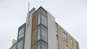 A picture of the five-story YSA building in Manchester, England.