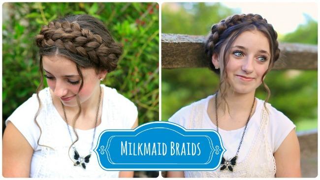 Milkmaid Braids from Cute Girls Hairstyles