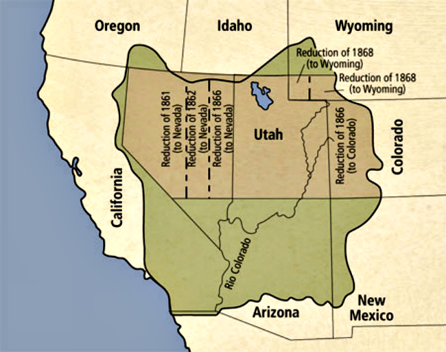 Map of the State of Deseret