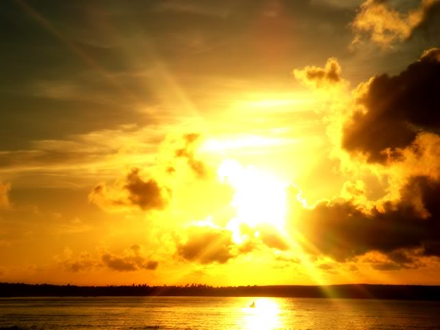 The light of the sun, metaphorically representing the power of example