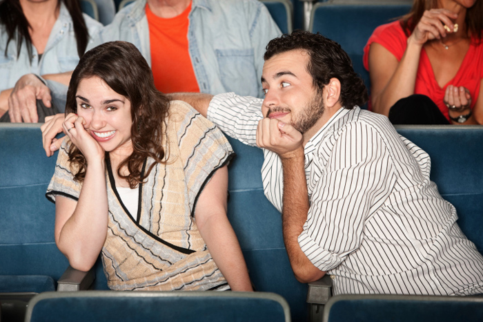 Image via LDSLiving.com awkward date at the movies.