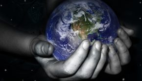 the world in her hands