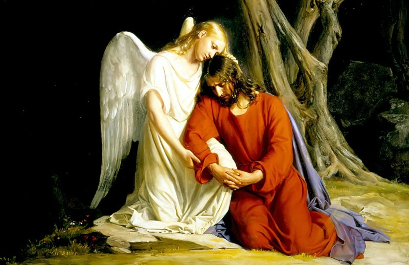 An Angel Comforts Christ in the Garden of Gethsemane