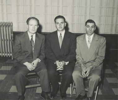 Bishop Thomas S. Monson with his counselors