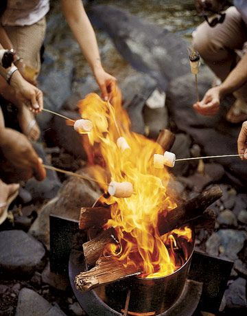 roasting marshmallows as part of a back to school guide
