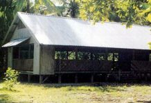 An island chapel in Kiribati