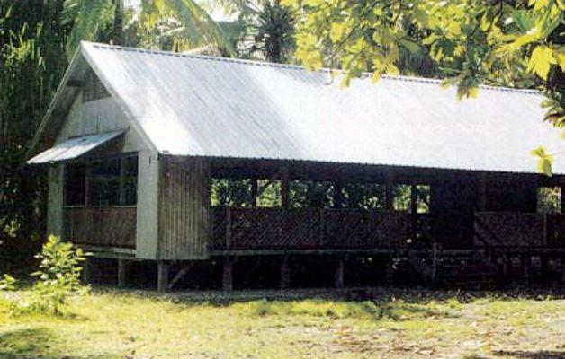 An island chapel in Kiribati