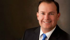 Photograph of Mike Lee, the senator from Utah and member of The Church of Jesus Christ of Latter-day Saints