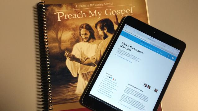 Missionary study guides: Preach My Gospel and Scripture Missionary App
