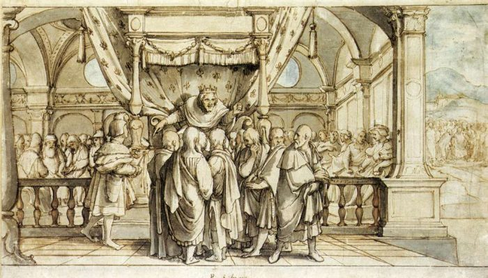 Hans Holbein The Arrogance of Rehoboam