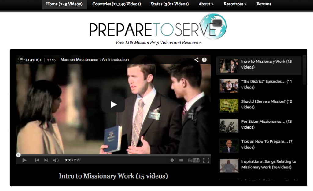 Screen shot of Prepare To Serve video page