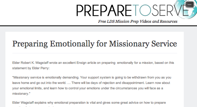 Prepare To Serve mission statement