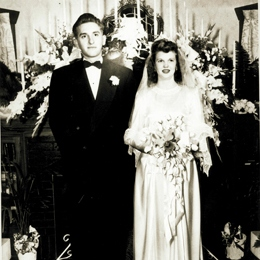 Thomas and Frances Monson's wedding day