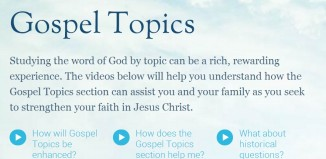 The Gospel Topics section of LDS.org helps members and non-members find answers to their questions.