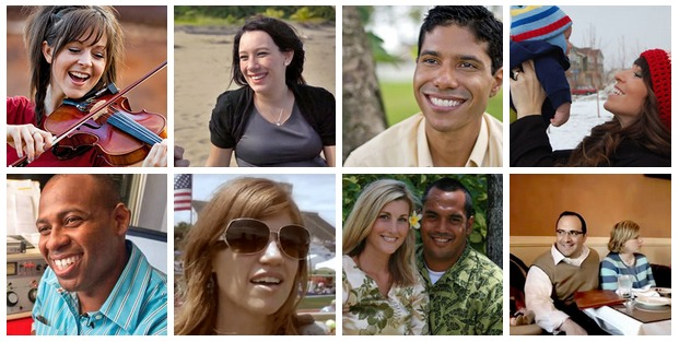 Faces of Mormon.org profiles