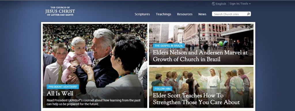 lds.org home page