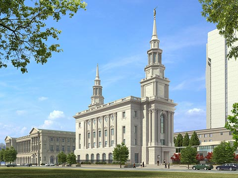 What the Philadelphia temple will look like when it is completed in 2016.