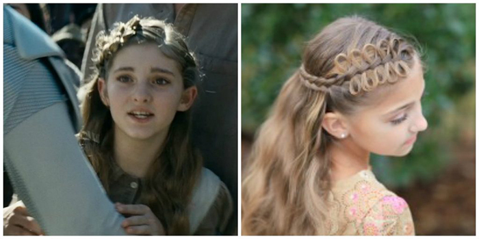 Cute Girls Hairstyle featured in Hunger Games movie