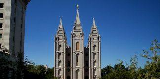Salt Lake Temple, American Flag