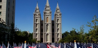 Salt Lake Temple, American Flag
