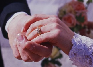 Bride and Groom Hand Shot