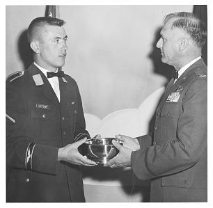 Dieter F Uchtdorf receiving the Commanders Trophy in Texas