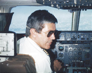 Dieter F. Uchtdorf in the cockpit of an airplane
