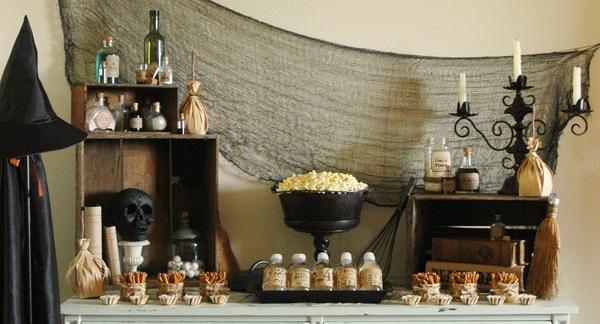Festive Halloween Snack Table