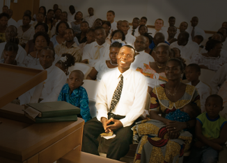 One man stands out in a sacrament meeting