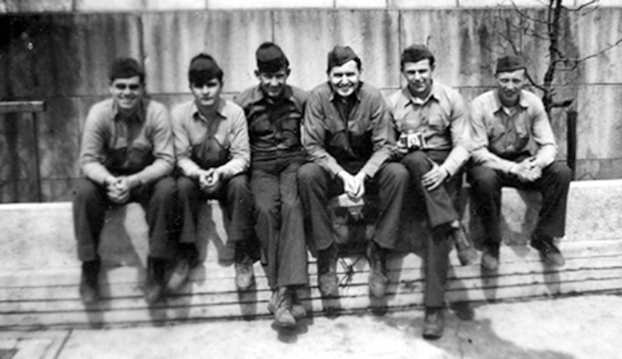 L Tom Perry and fellow servicemen