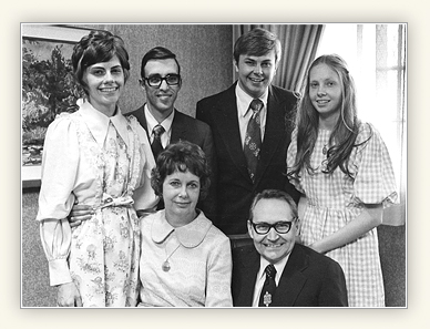 L Tom Perry with Virginia and their children