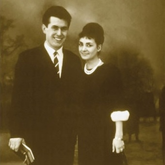 Newlyweds Dieter and Harriet Uchtdorf