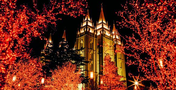 Temple Square Lights Temple
