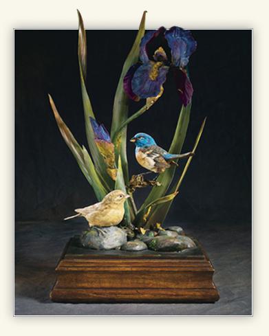 a bird sculpture created by Boyd K Packer
