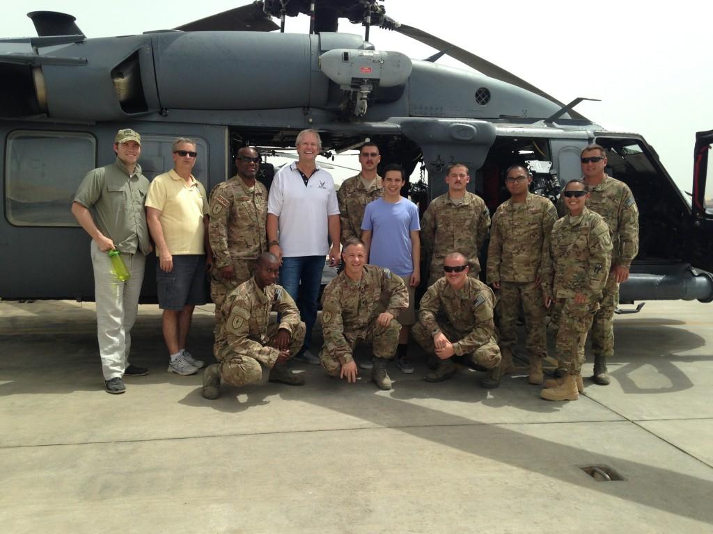Archuleta with the rescue crew in Djibouti. From davidarchuleta.com