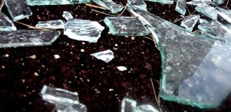 Broken glass, shards