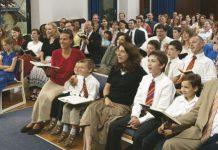 LDS Church meeting