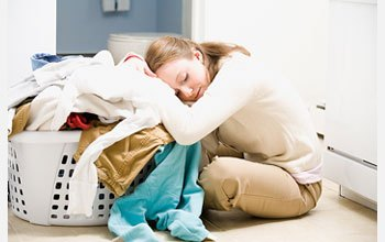 woman tired from serving her family