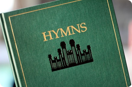 An LDS Hymn book - image from Thisismechallenge.blogspot.com