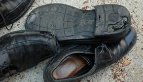 worn missionary shoes