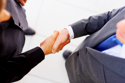 Meeting, shaking hands, introduce