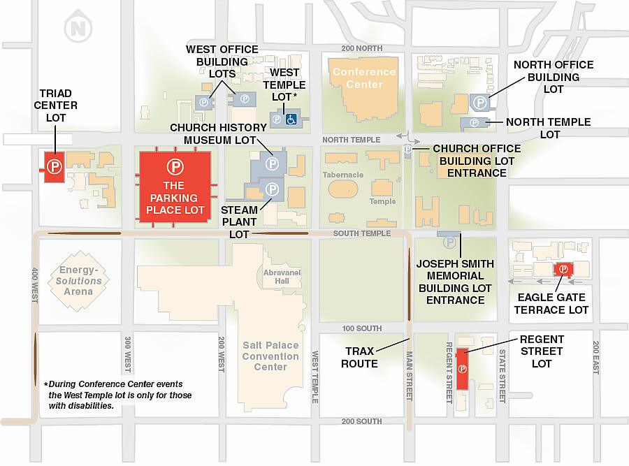 Parking areas in Conference Center