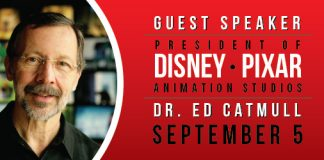 Dr Ed Catmull speaks at the Conference Center