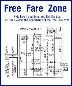 UTA Free Fare Zone