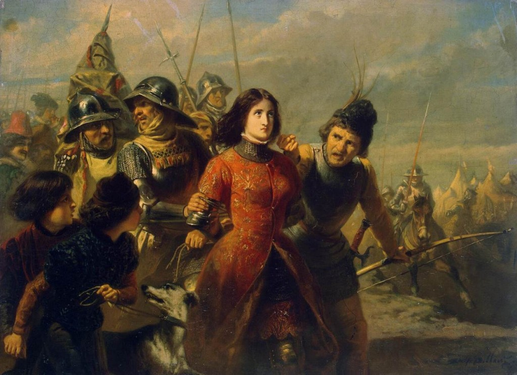 "The painting ""The capture of Joan of Arc"" by Adolf Alexander Dillens"