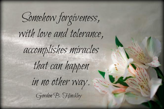 Forgiveness Hinckley
