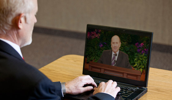 Watching General Conference on Computer