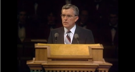 M. Russell Ballard challenging the saints in the October 1980 General Conference