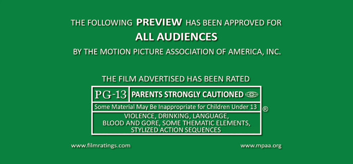 Movie Preview Green Rating Screen