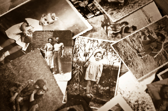 assortment of old pictures used in family history work